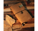 Genuine leather travel notebook