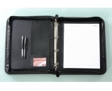 pu file folder with pen holder and documents holder
